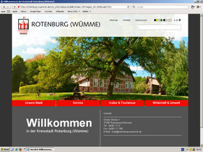 Screenshot der Website der Stadt Rotenburg (Wümme)